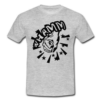 Whamm - puño golpeando. Camiseta estilo cómic.