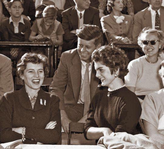 Eunice Kennedy Shriver, John Kennedy and Jacqueline Bouvier Kennedy