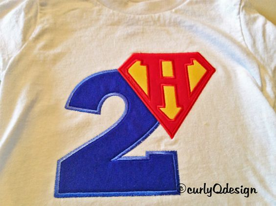 Superhero Birthday Shirt  Custom and Personalized by curlyQdesign, $25.00
