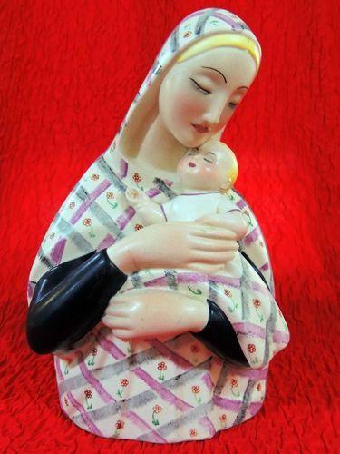 Early Italian Lenci Madonna And Child Figurine Madonna