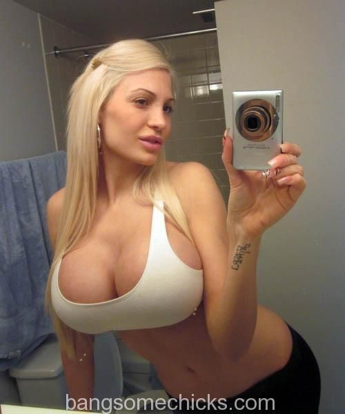 Big Fake Tits Self Shot Blonde Jpg 500 215 600 Hot Pinterest