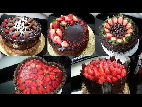 تزيين الكيك اسهل طريقة تزيين تورتة للمبتدئين وبمكونات بسيطة الطريقة بالتفاصيل على القناة Youtube Food Desserts Cake Cookies