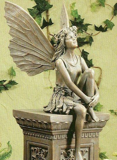 Large Standing Fairy Resin Garden Statue Gardens Garden statues