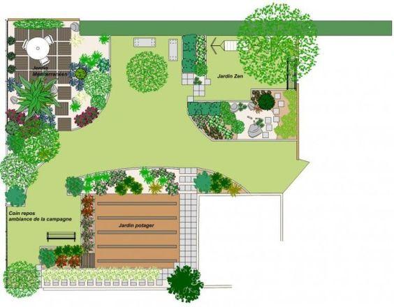 Planifier et r aliser un massif de vivaces plan jardin pinterest for Plan jardin japonais