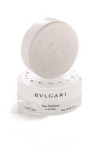 bvlgari eau parfum e au th blanc deluxe soap with dish. Black Bedroom Furniture Sets. Home Design Ideas