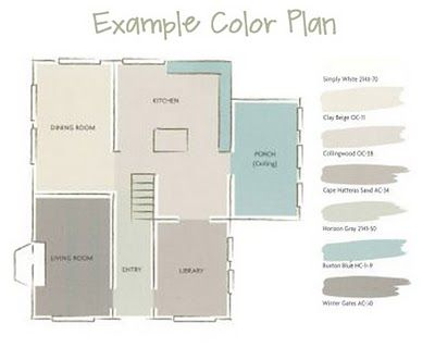 Like how the floorplan was used to show the flow of wall colors throughout the home!