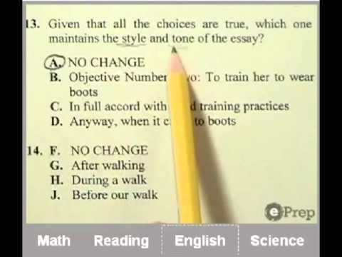 Act Practice Test Online Eprep Things I Should Know