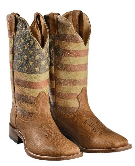 Corral Ladies Distressed Brown w/ Bone Embroidery Square Toe