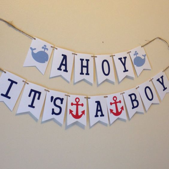Baby Shower Banner Sayings ~ Its a boy nautical theme and baby shower sayings on pinterest