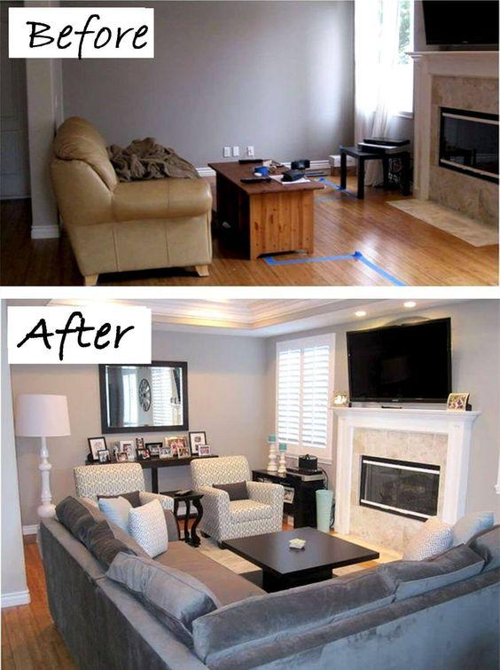 Antes y después: 26 renovaciones económicas de la sala de estar para inspirarte ¿Es usted el orgulloso propietario de un reparador superior que necesita desesperadamente un repaso? Tal vez solo te estás cansando del último camb... Decoracion de la casa