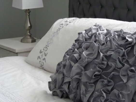 Ruffled Pillow Cover 17x17 by metzinteriors on Etsy