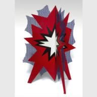 Roy Lichtenstein (1923 - 1997), Standing Explosion, 1966, Porcelain enamel on steel, Photography by Edward C. Robison III  crystalbridges.org