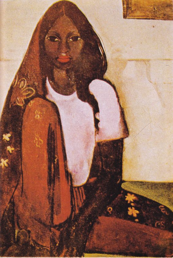 Amrita Sher-Gil (1913-41), The Child Bride, 1936  Amrita Sher-Gil was born in Budapest in 1913 to a Sikh nobleman and a cultivat...: