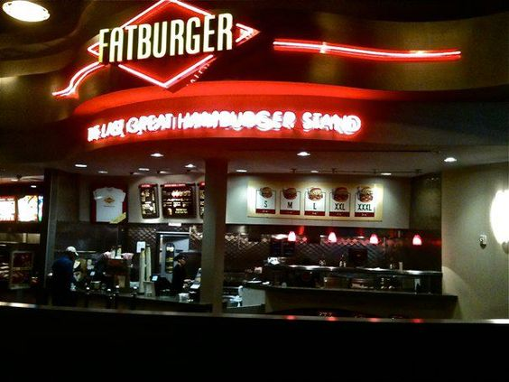 Fatburger, the biggest, juiciest hamburgers + onion rings made from real onions. Real ice cream shakes. Great tasting chili. And fries cooked in 100% cholesterol-free oil - Northern Quest Resort & Casino, Spokane, WA