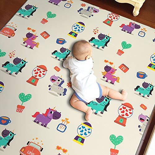 Outroad Non Toxic Baby Play Mat For Crawling Crawling Mat For Toddlers Nursery Rug Game Mat Double Sides Kids Play Ar Kids Play Area Nursery Games Kids Playing
