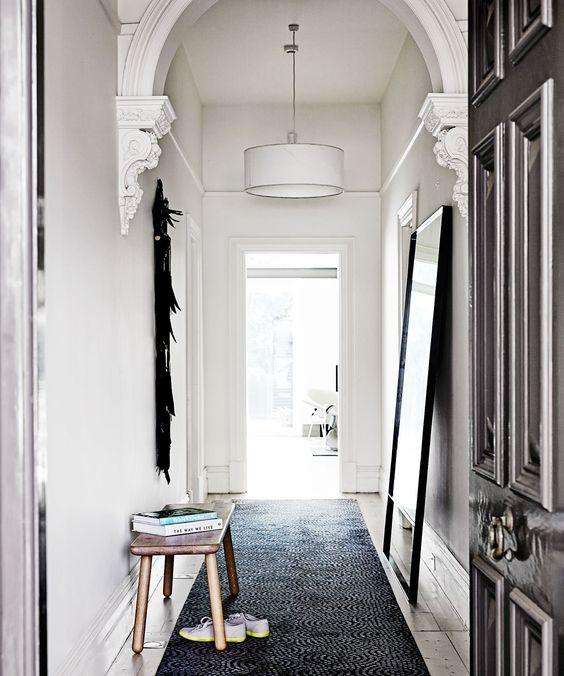 Floor Runner Melbourne: Heritage/period Home: White Drum Shade Pendant