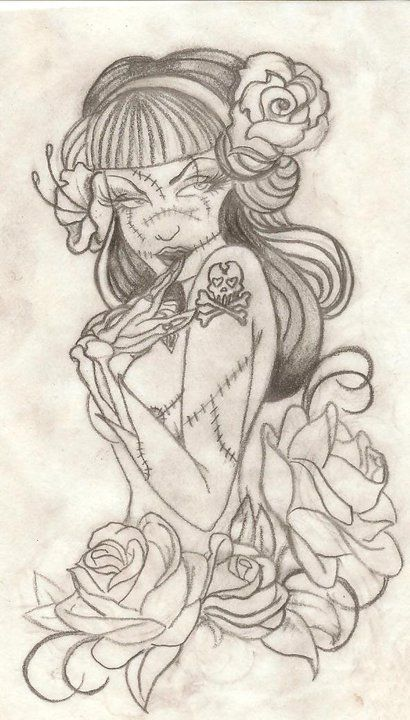 Zombie Pin-Up Girl by bigkidnow1919.deviantart.com on @deviantART