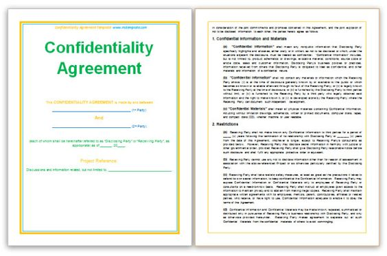 Standard Confidentiality Agreement