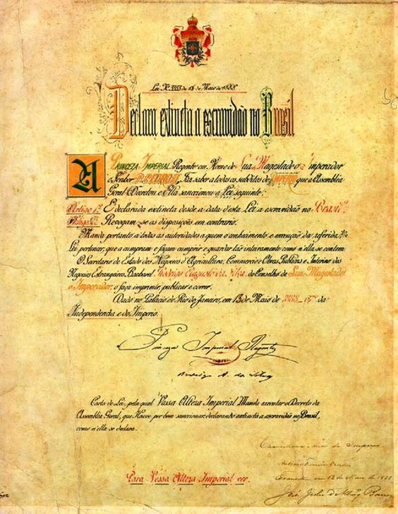 Lei Áurea - Brasil, Arquivo Nacional