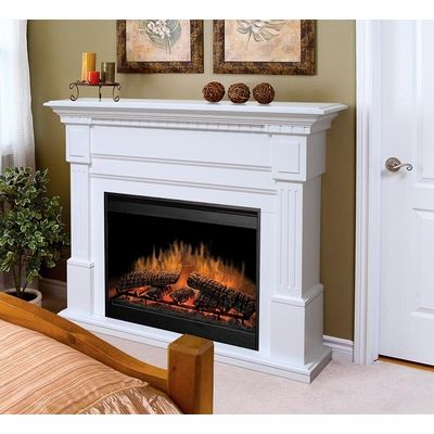 White Electric Fireplace Indoor Transitional GDS30 1086W