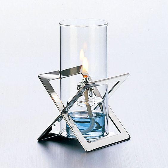 『オイルランプ』ルナックスオイルランプ スタイリッシュ・メタル「X」/クリアタイプ(OL-80-155C)【即納】05P05Nov16