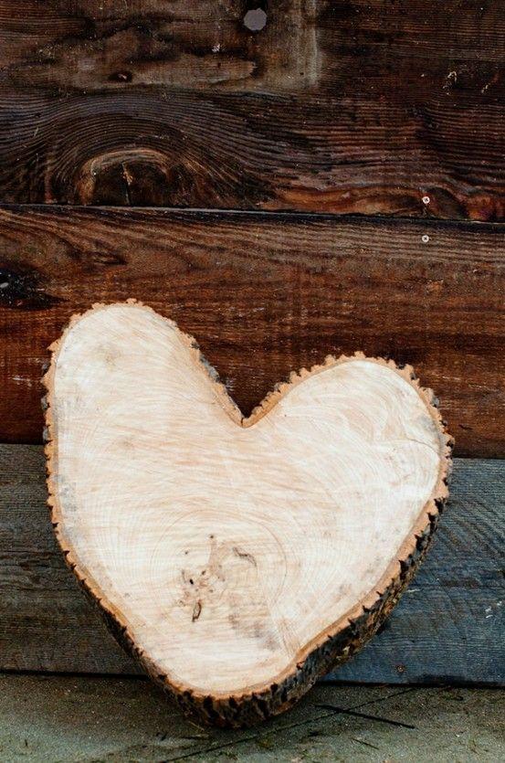 wood heart <3