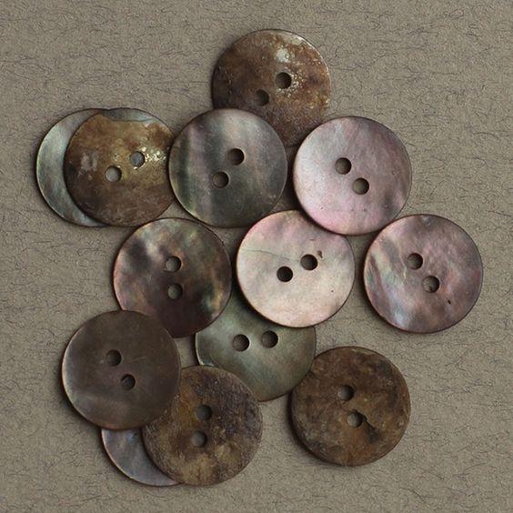 Perlemor grå 15mm - Perlemor - Knapper