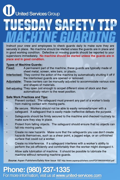 machine guarding toolbox talk