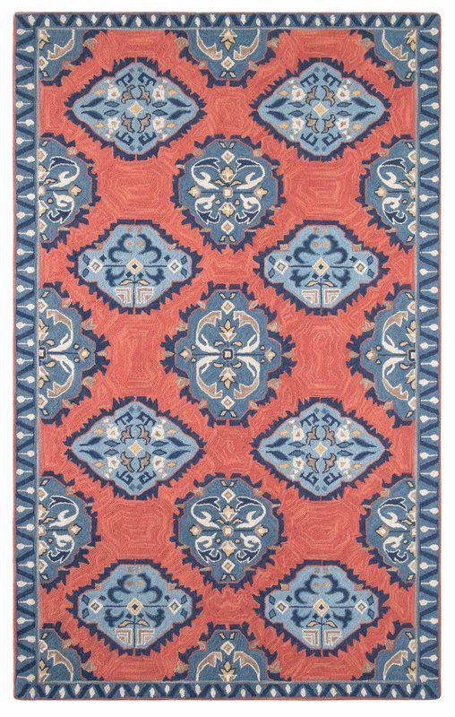 Old Glory Oriental Hand Hooked Wool Blue Area Rug Area Rugs
