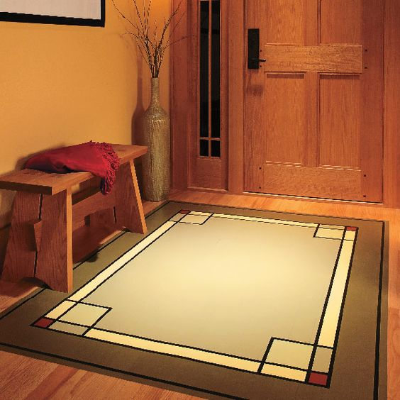 paint a stunning permanent area rug i don 39 t know if i 39 d do this to my hardwood floors but a. Black Bedroom Furniture Sets. Home Design Ideas