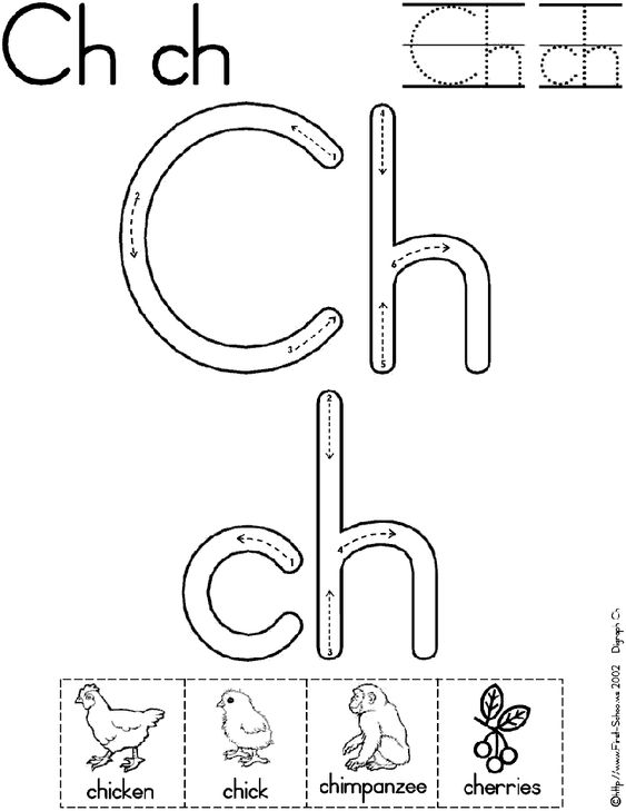 digraph ch worksheet | Preschool | Pinterest | Worksheets, Mini ...