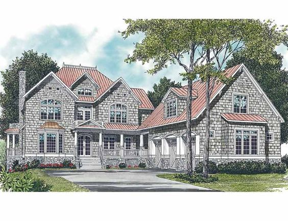 Eplans Shingle House Plan - Huge Private Deck - 4685 Square Feet and 5 Bedrooms(s) from Eplans - House Plan Code HWEPL04048