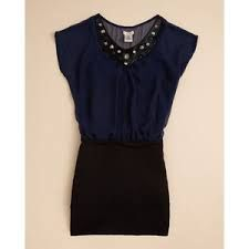 Navy blue t-shirt top and black pencil skirt sally miller <3