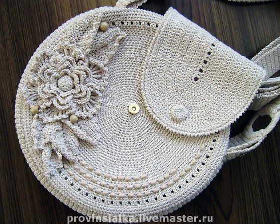 Irish Crocheted Handbag. Cotton thread crochet, with wooden beads. http://cs1.livemaster.ru/foto/large/7a33850629-sumki-aksessuary-sumochka-letnyaya-kruglaya-n5190.jpg http://cs2.livemaster.ru/foto/large/9231509196-sumki-aksessuary-sumochka-letnyaya-kruglaya-n5190.jpg