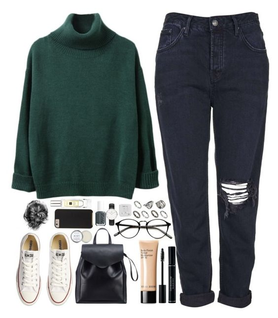 """I won't regret anymore."" by amy-gray0 ❤ liked on Polyvore featuring Topshop, Converse, Loeffler Randall, Bobbi Brown Cosmetics, Case-Mate, ASOS, Essie, Jo Malone, Daniel Wellington and Happy Plugs"