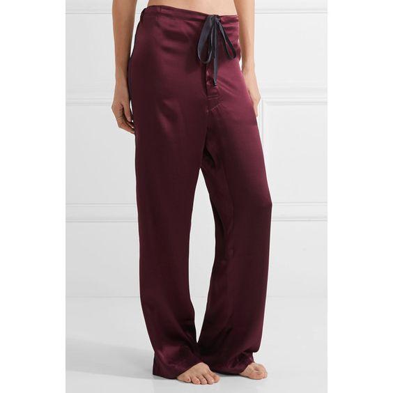 Araks Ally silk-twill pajama pants ($265) ❤ liked on Polyvore featuring intimates, sleepwear, pajamas, pj pants and araks