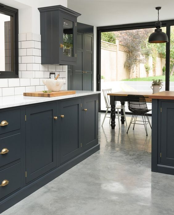 East Dulwich Kitchen Devol Kitchens Kitchen Layout Pinterest The Floor Grey And Floors