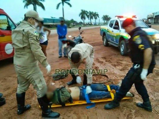 O trabalhador Elcinei de Souza, de 32 anos, sofreu uma tentativa de homicídio no início da manhã desta quinta-feira (30).