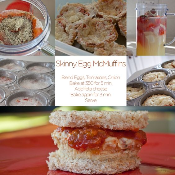 Skinny Egg McMuffins {and frittatas}