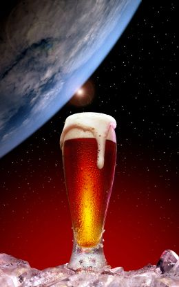 Introducing Space Beer, Made of Moondust and Star Trek Dreams. It's out of this world! (see what I did there?)