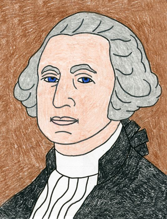 George Washington Drawing Easy : george, washington, drawing, George, Washington, Projects, Projects,, Drawings