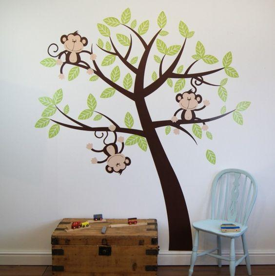 schöne wandtattoos kinderzimmer einrichten ideen baum   pinterest - Kinderzimmer Ideen Baum
