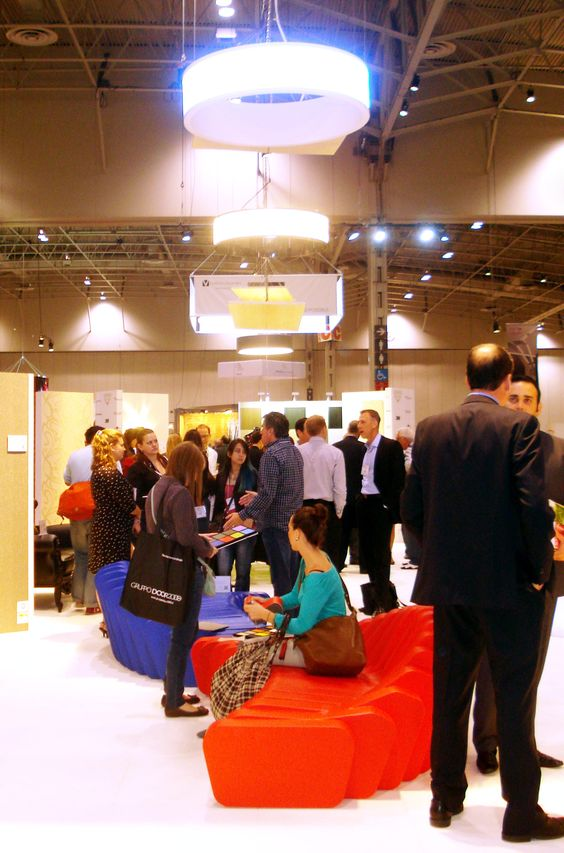 Levey's busy booth at IIDEX 2013 #IIDEX #design #toronto