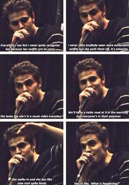 TVD - I can see that happening! ( Paul Wesley commenting on Kat Graham )