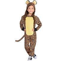 Toddler Girls Zipster Leopard One Piece Costume - Party City Canada