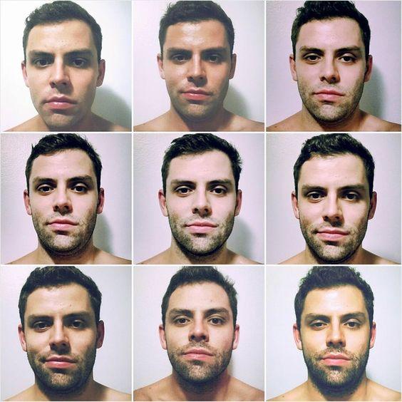 A evolução de uma bela barba.