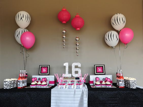 Sweet Sixteen Birthday Dessert table