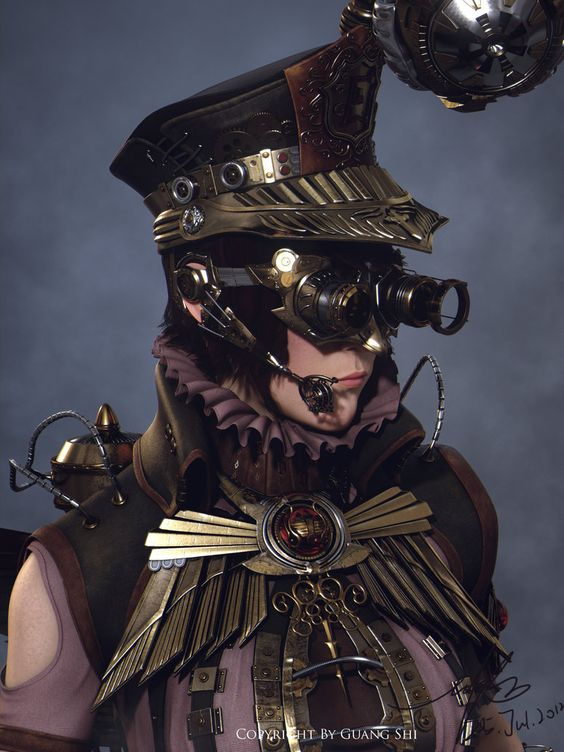 Steampunk Law enforcer by Guang Shi   http://gwangshi172.deviantart.com
