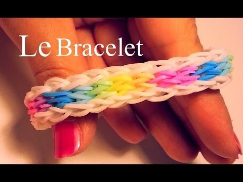 Comment faire un bracelet rainbow loom lastiques diy bijoux pinterest m tier tisser - Comment faire un bracelet en elastique ...