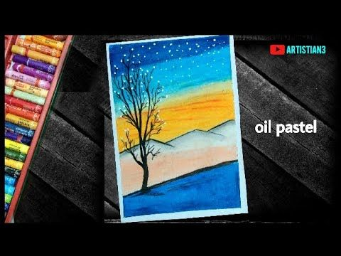 Scenery Drawing Step By Step With Oil Pastel For Beginners Youtube Watch Out This New Art Video On Youtub Oil Pastel Step By Step Drawing Oil Pastel Drawings